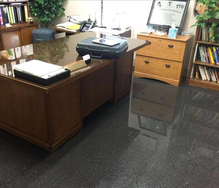 Standing water in office