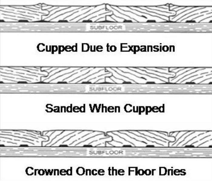Water Damage Secondary Damage to Hardwood Flooring