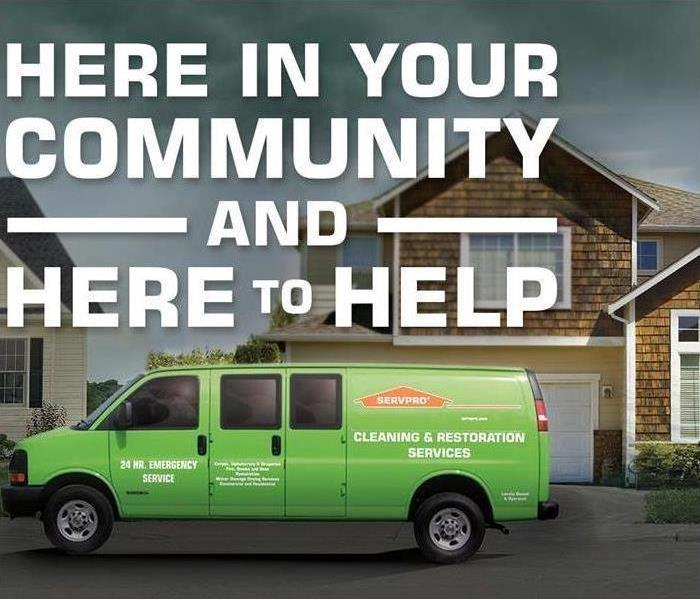 Why SERVPRO We're local and ready 24/7